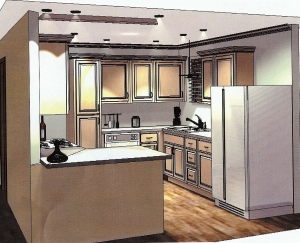 The new kitchen in 3D