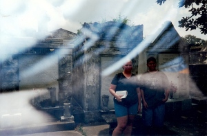 GE and Jack in New Orleans at the St. Louis Cemetery.  It's our favorite and only ghost picture.