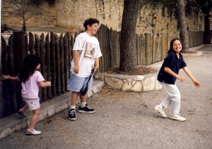 When you are sorrowful look again in your heart, and you shall see that in truth you are weeping for that which has been your delight.  ~Kahlil Gibran (Jack, Nina, and Savanna in 2000 at SA Zoo)
