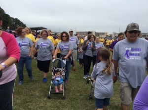 Part of our walking team on Sunday's Walk to End Alzheimer's